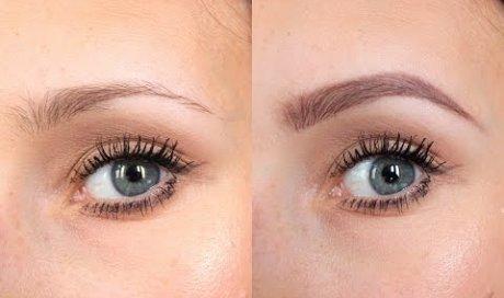 Reconstruction des sourcils avec une teinture au Henné